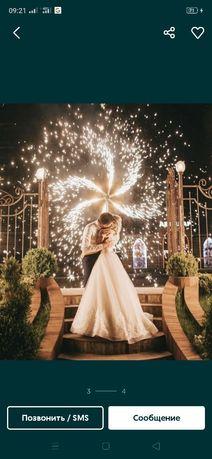 Холодный фонтан, фейерверк, предложение руки и сердца, свадебный танец
