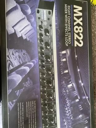 Mx822 mixer 8 channel stereo