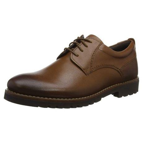 -61% rockport, 40-41, нови, оригинални мъжки обувки, естествена кожа