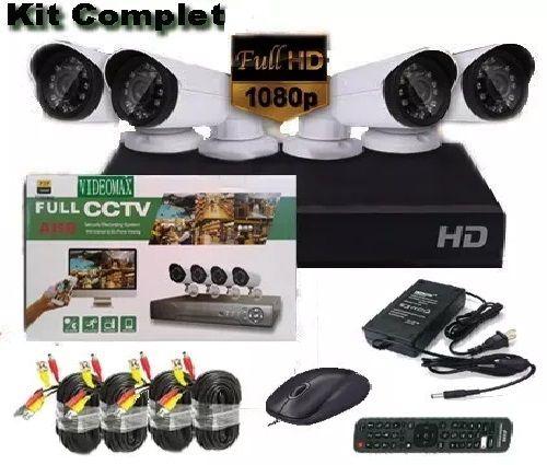Sistem supraveghere 4Camere 3Mpx + HDD 500GB FullHD Internet Color Bucuresti - imagine 1