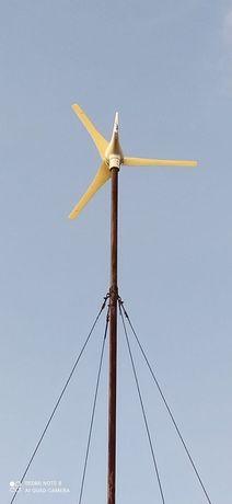 Продам Ветрогенератор 12-24вт.600w. без аккумуляторов. Мачта стропы