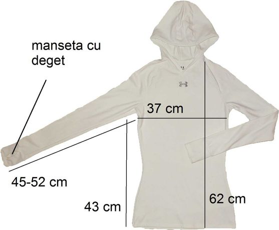Bluza pe corp, hanorac sport UNDER ARMOUR originala(dama M) cod-556266