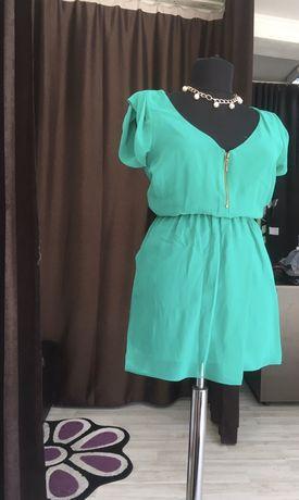 Rochie verde turcoaz