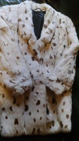 Палто от естествена заешка кожа - Echter Pelz