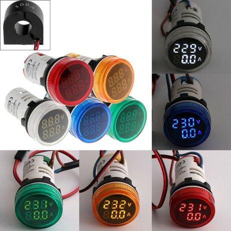 Digital voltmetru/ampermetru 2 in 1, 50-500V/0-100A, Nou ambalat!