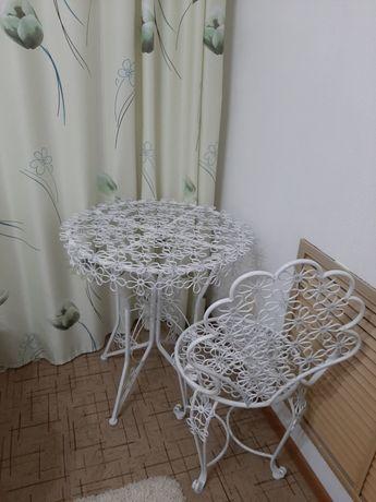 Продам стол со стулом. Ковка
