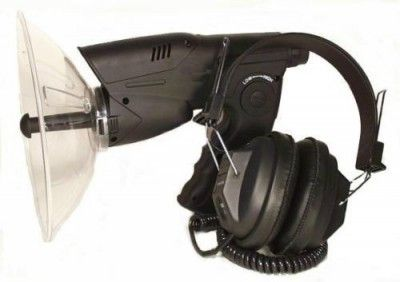 Amplificator sunet distanta microfon parabolic cu receptor pt vanat