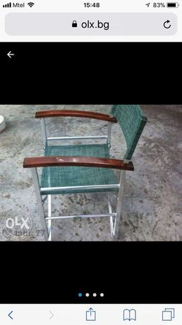 Сгъваеми алуминиеви столове.4 броя цената е за 1 стол.