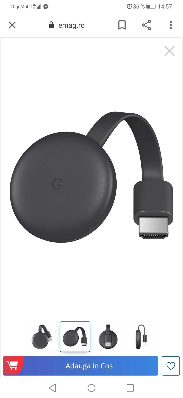 Media player smart tv Google chromcast Nc2 6a5 1600