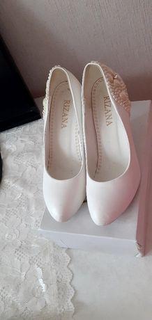 Туфли белый женский