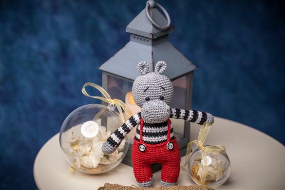 Плетени играчки на една кука - Хипопотамче, Еднорог, Мече и Момиче.