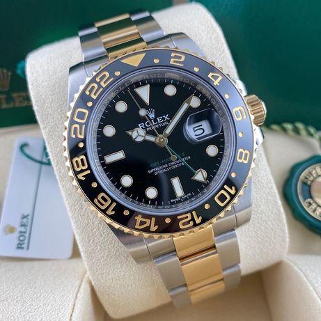 Rolex GMT Master II Silver Gold 116713 Automatic ETA 1 la 1
