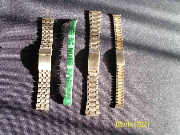 верижки за ръчни часовници , Ориент , фикс-о-флекс с емайл , би-колорр
