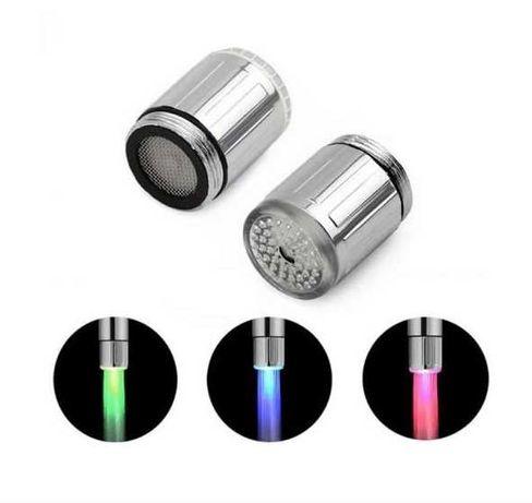 Cap de robinet cu led colorat si filtru inclus, activare automata