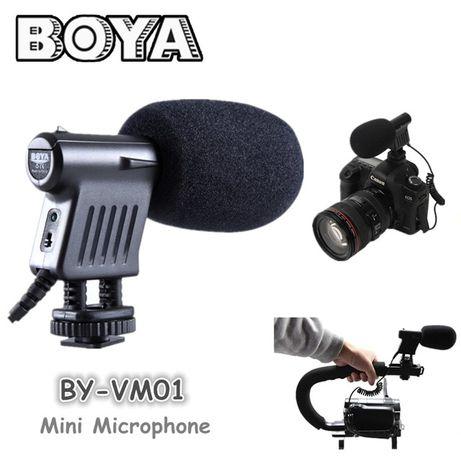 Microfon Boya BY-VM01 unidirectional pt aparate foto DSLR, mirrorless