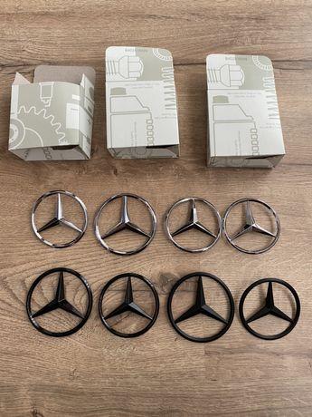 Emblema Semn Logo Mercedes Spate C CLA E GLC Crom Negru Mat Lucios