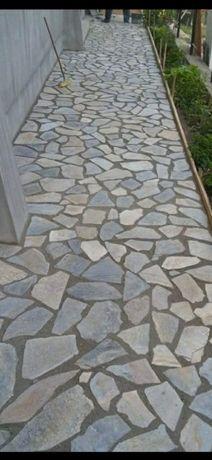 Pavaj Placări piatră munte Pavele Dale