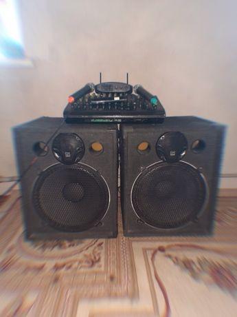 Музыкальный Аппарат полный комплект на 1000Вт стерео для свадьб и т.д.