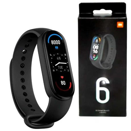 Новинка - фитнес-трекер Xiaomi Mi Band 6! Часы, пульс! Miband 6