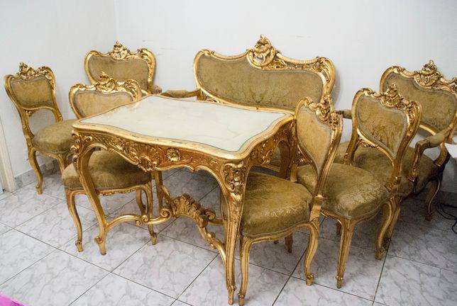 Antichitate Salon Rococo sec 19, Masa, Canapea, fotolii, scaune