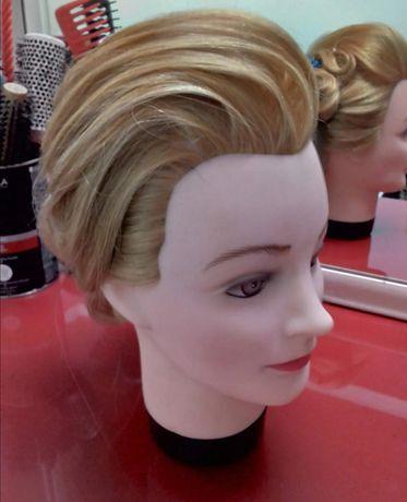Болванка с натуральным волосом