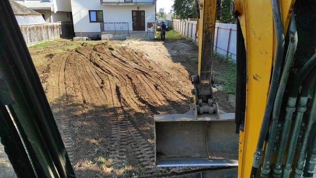 Execut săpături,demolări,beciuri,fundații case și garduri cu excavator