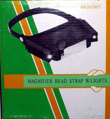 Лупи за глава с осветление - различни модели