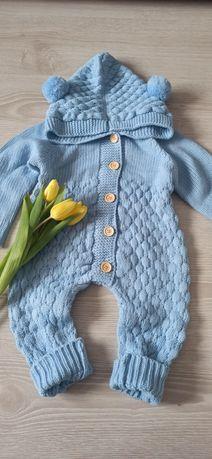 "Salopeta tricotata bebelusi ""Baby Blue"""