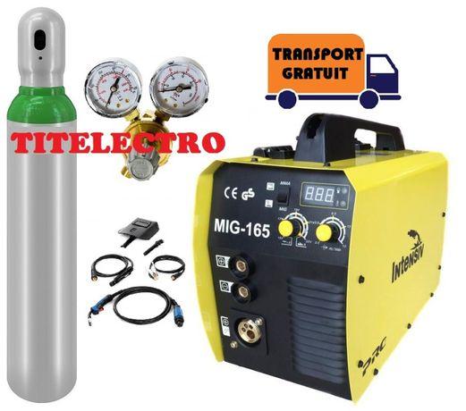 Aparat sudura CO2/corgon/argon MIG 165 cu sarma/fir +butelie +reductor
