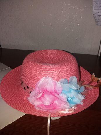 Летняя  шляпа для девочек4-7лет.