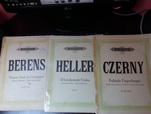 Книжни ноти,партитури по пиано
