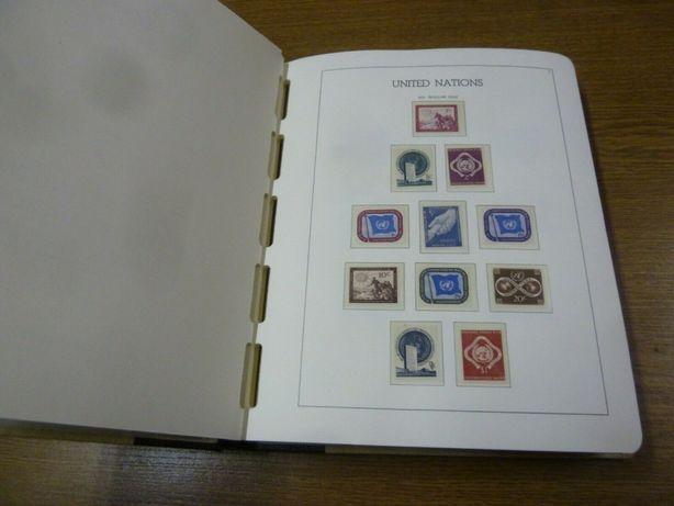 ONU colectie completa timbre nestampilate 1951-1986 in album