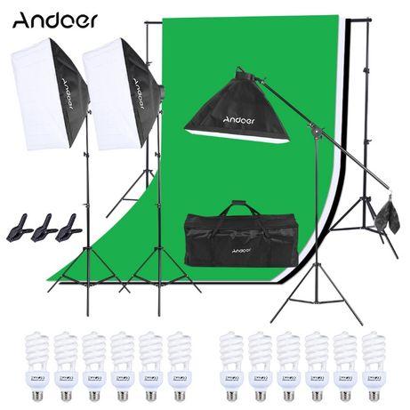 Echipament Studio Foto Lumini Continue si fundaluri foto