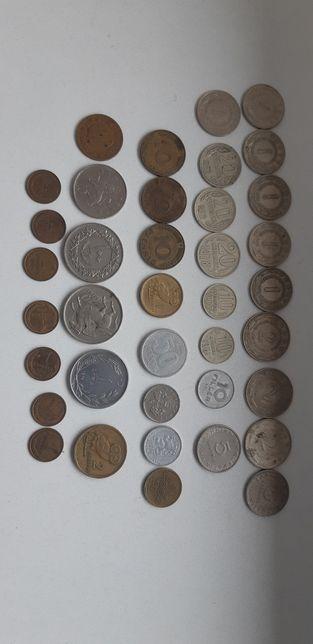 Lot monede straine,dinari,para,dragma,lire,copeici,pence,pfennig