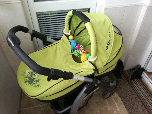 Комбинирана бебешка количка Chipolino gemma 0+