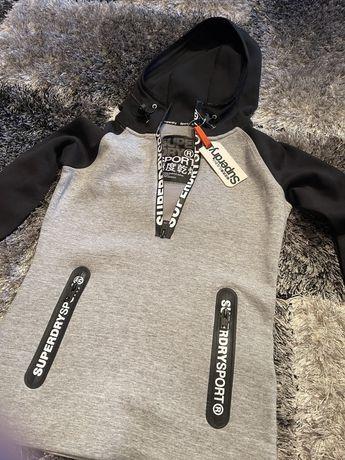 Superdry Gym Tech Half Zip Hood