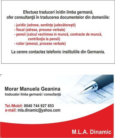 Ofer meditații lb. germană şi efectuez traduceri în/din lb. germană