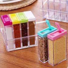 Кутии за подправки 6бр.Cristal seasoning box