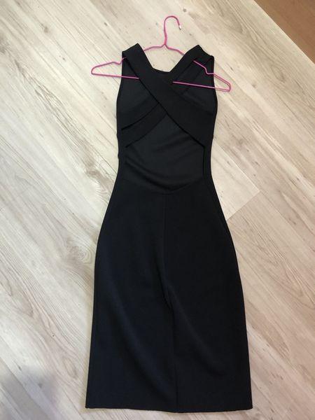 Черна рокля по тялото с интересен гръб Zara с. Бенковски - image 1