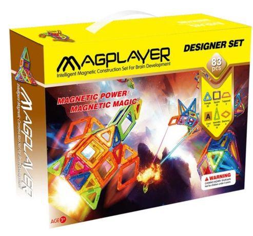 MagPlayer — Детский магнитный конструктор 83 элемента деталей
