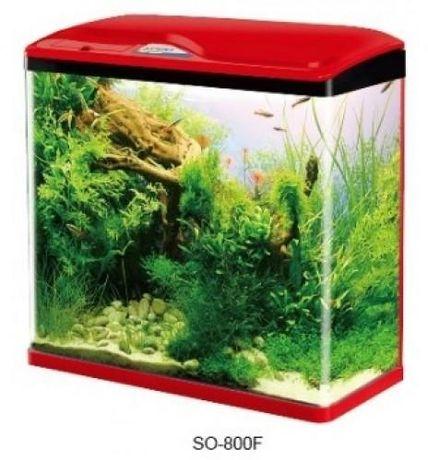 Аквариум за рибки 110 литра с ЛЕД осветление и филтрираща система