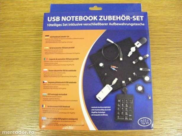 Set 10 accesorii tableta , notebook , laptop + geanta personalizata