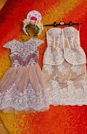 Set mama fiica rochite