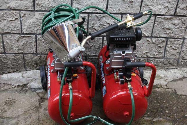 Pompa tencuit INOX 60mp/ora 2 Compresoare incluse 100l Total Masina