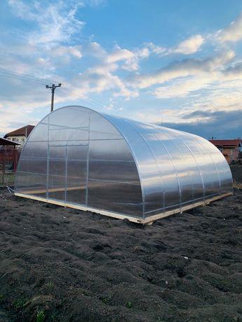Sera, solar, 6 m latime,policarbonat, legume, flori.