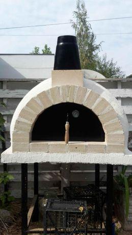 Cuptor mobil traditional cu vatra pe lemne pentru pizza, paine