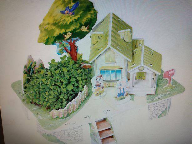 Детские наборы 3Д пазлы с грунтом и семенами для выращивания растений