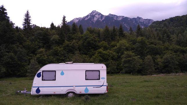 Rulota caravana 2009 dotari OFFcamping panou fotovoltaic baterie 200Ah