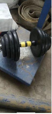 Дъмбели разгобяеми гумени гира  2 х10 кг ,2 х15 кг , 2 х 20 , тежести
