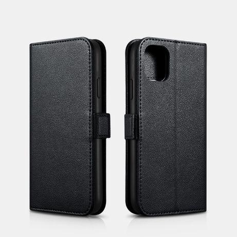 Husa iPHONE 11, piele naturala nappa, 2in1, multifunctionala, iCarer